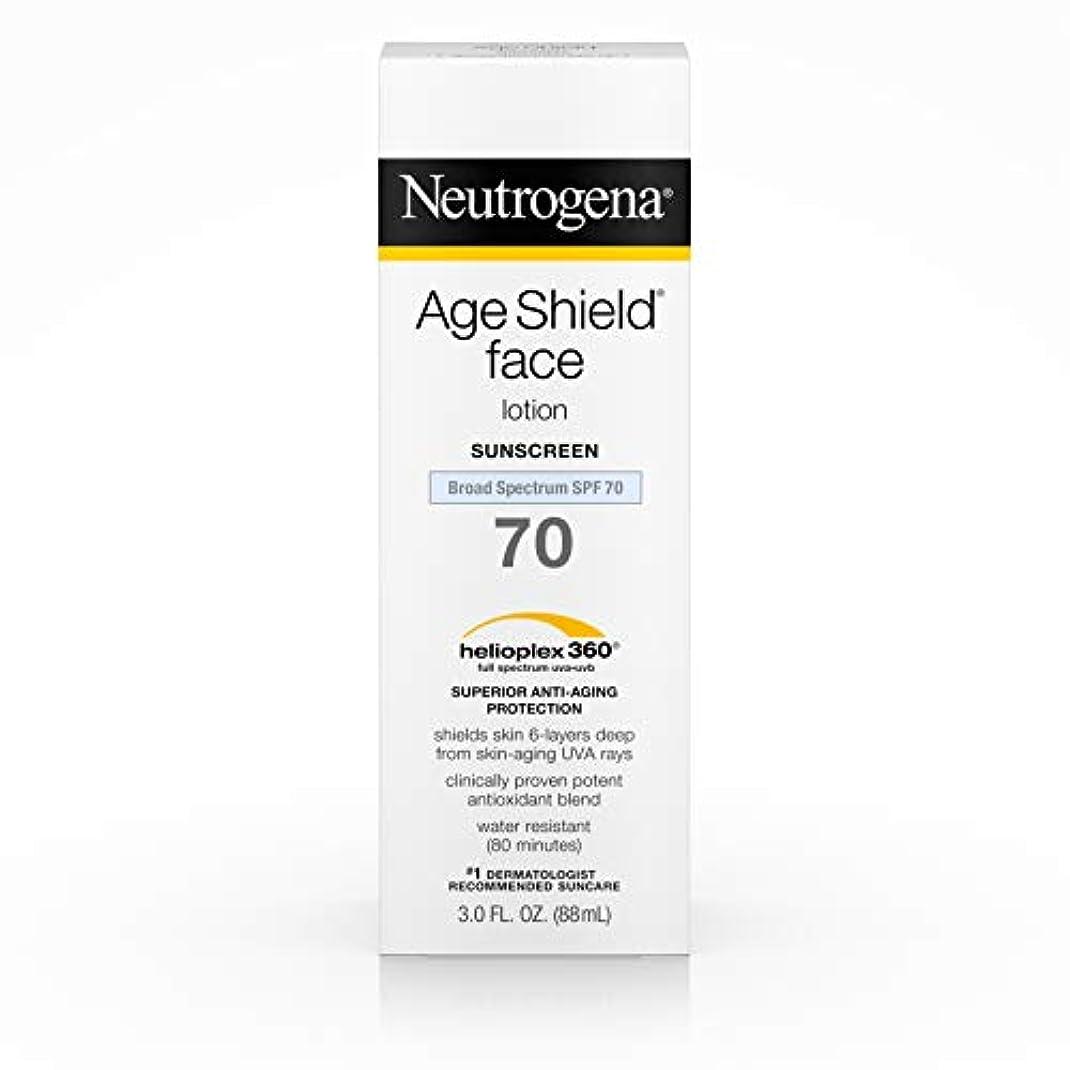 安全性ナプキン障害者Neutrogena Age Shield Anti-Oxidant Face Lotion Sunscreen Broad Spectrum SPF 70, 3 Fluid Ounce