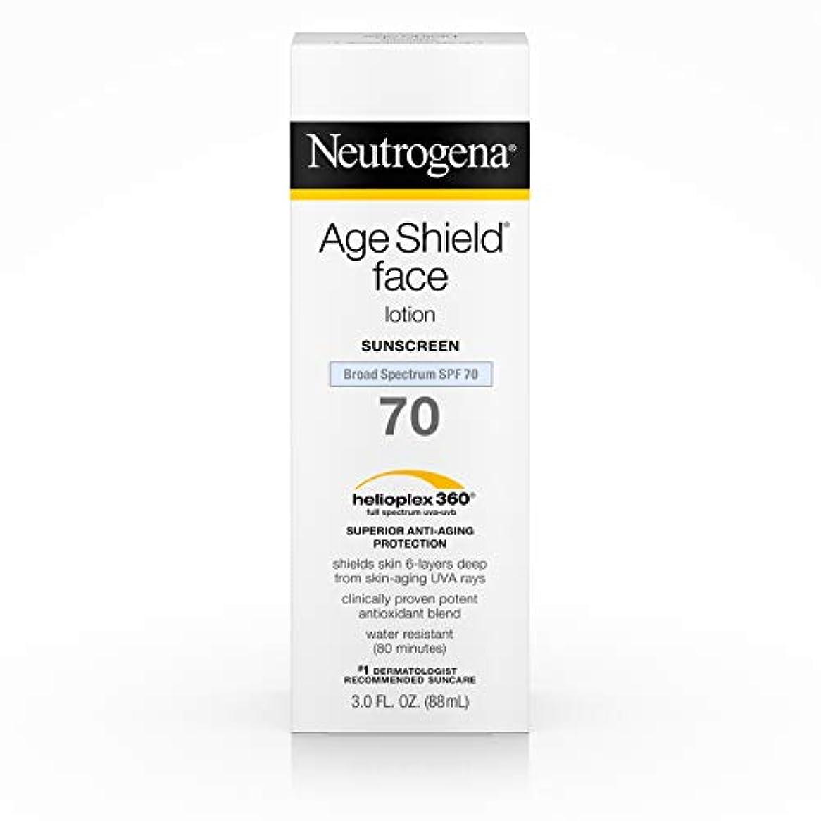 然とした反動見かけ上Neutrogena Age Shield Anti-Oxidant Face Lotion Sunscreen Broad Spectrum SPF 70, 3 Fluid Ounce