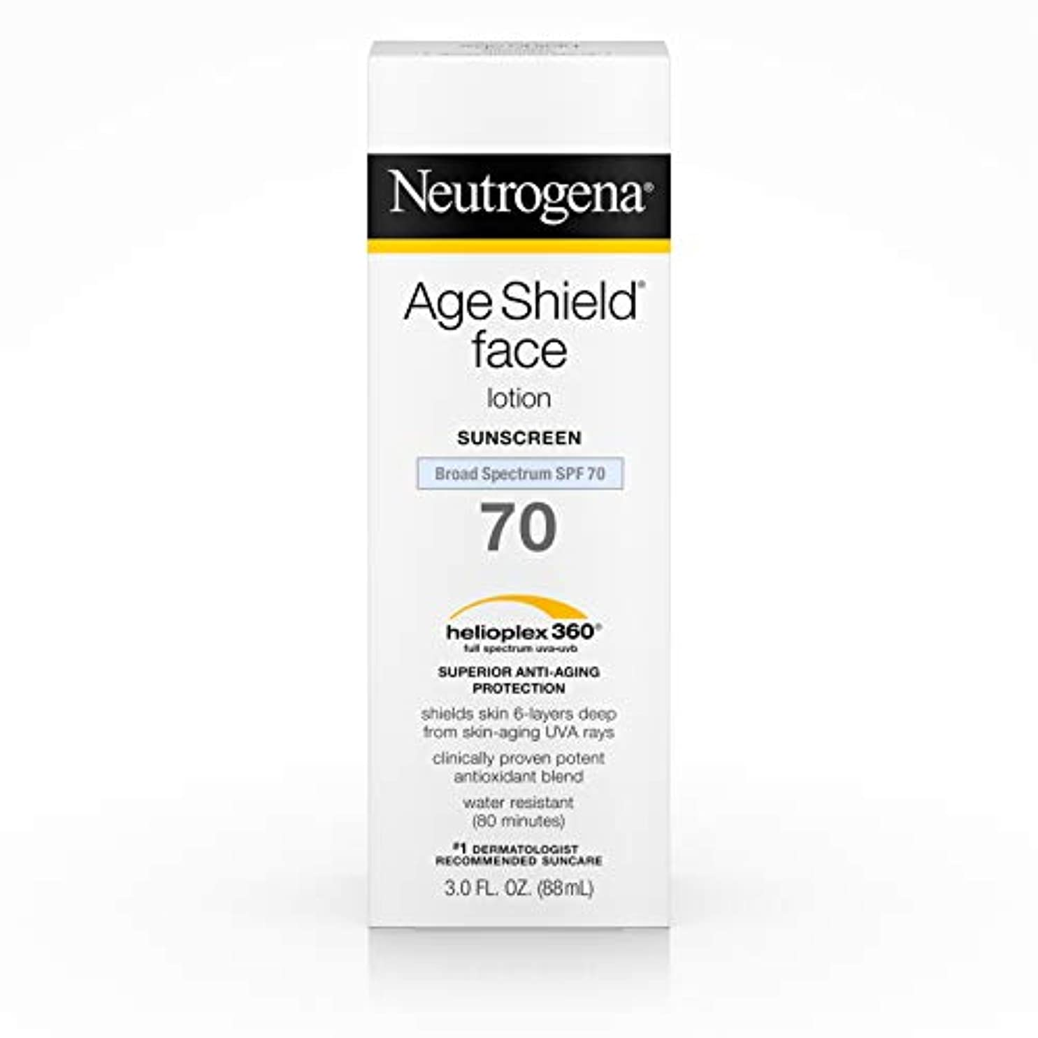 彫刻子犬ジャンルNeutrogena Age Shield Anti-Oxidant Face Lotion Sunscreen Broad Spectrum SPF 70, 3 Fluid Ounce