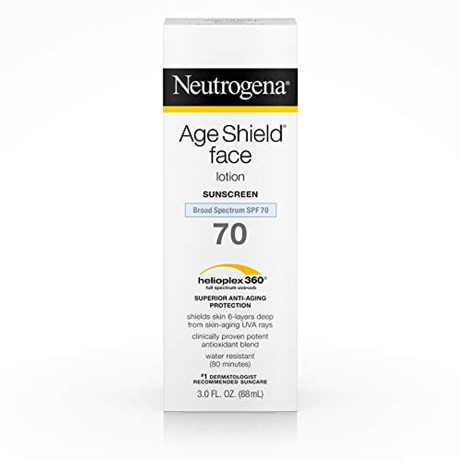モールビデオ地下鉄Neutrogena Age Shield Anti-Oxidant Face Lotion Sunscreen Broad Spectrum SPF 70, 3 Fluid Ounce