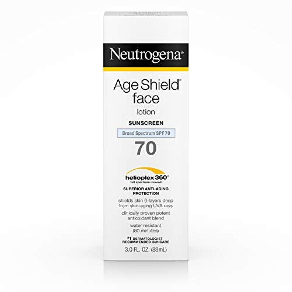 脚本のためステープルNeutrogena Age Shield Anti-Oxidant Face Lotion Sunscreen Broad Spectrum SPF 70, 3 Fluid Ounce