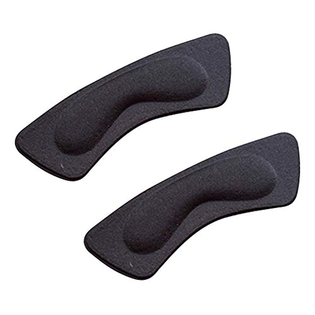 マダム最適葉を拾うkiirou 靴擦れ防止パッド パカパカ防止 かかと テープ 2足 かと パッド クッション インソール 滑り止め かかとパッド 男女兼用 ハイヒール 革靴 スニーカー サイズ調整 (2層黒)
