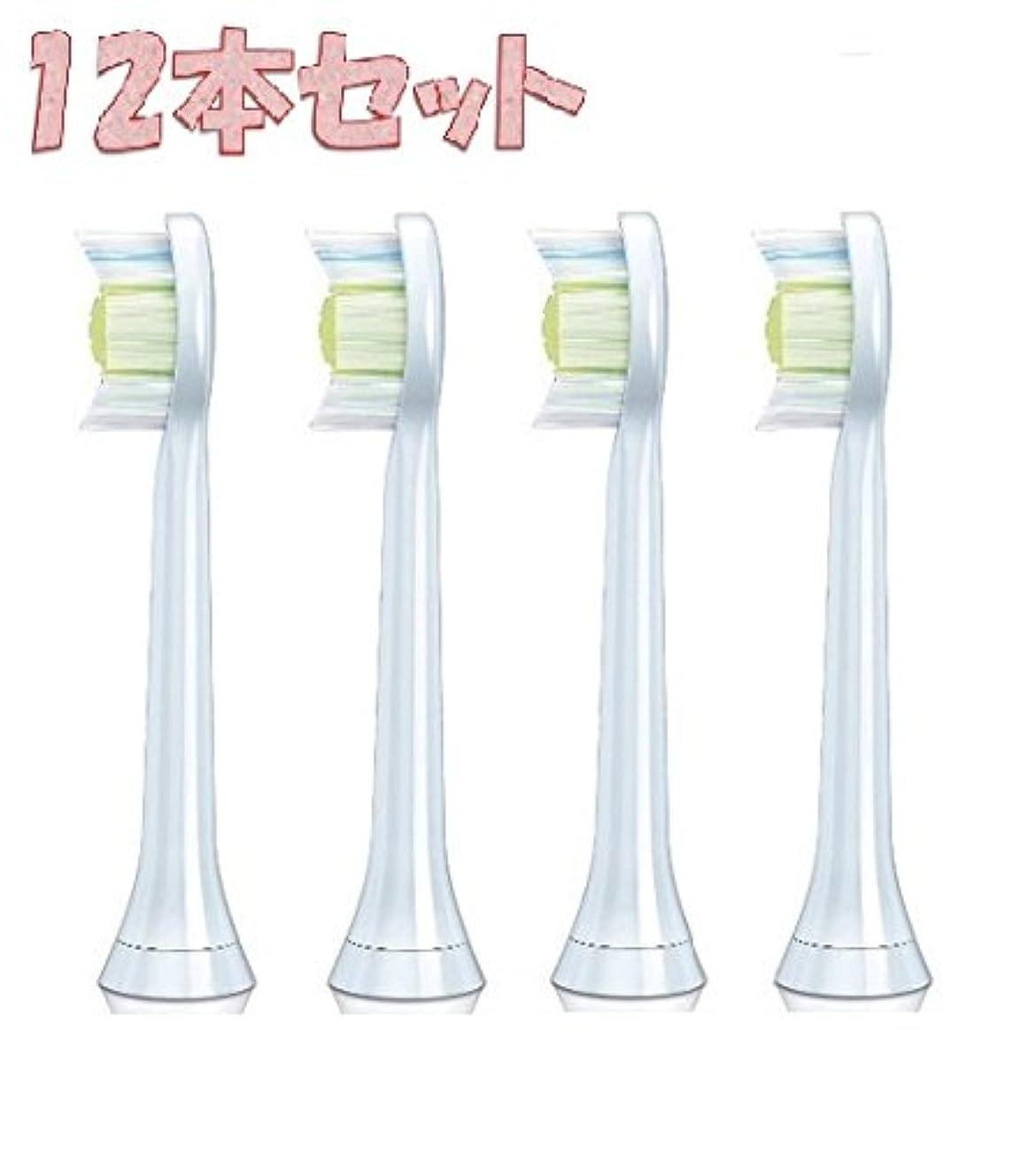 水を飲むペルソナ険しいHX6064 HX6062 互換 替え歯ブラシ 12本セット 替えブラシ PHILIPS フィリップス ソニッケアー スタンダードサイズ
