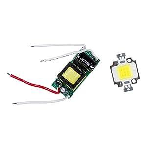 SODIAL(R)10W LEDブライトホワイト電球ランプAC85-265V
