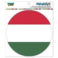 ハンガリー国立国旗 - サークル MAG-格好いい'S(TM)カー/冷蔵庫マグネット