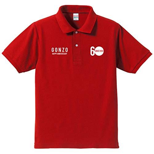 【名入れ、メッセージプリント、オリジナルポロシャツ】還暦祝い赤いポロシャツ 還暦アニバーサリー(プレゼ...