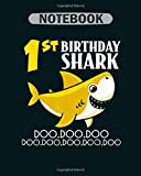 Notebook: 06 shark in surf - 50 sheets, 100 pages - 8 x 10 inches