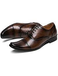 本革 ビジネスシューズ 牛革 ビジネス カジュアル ロングノーズ ストレートチップ 内羽根式 ブラック 黒 ブラウン 茶色 革靴 紳士靴 24.5cm 25cm 25.5cm 26cm 26.5cm 27cm