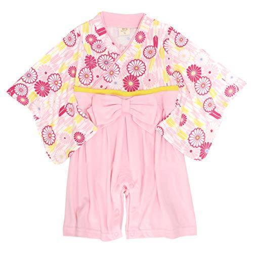 袴 ロンパース 赤ちゃん はかま 和装 カバーオール ベビー 女の子 フォーマル ピンク 70cm
