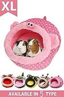 小動物 ハウス ハムスター ベッド あったか ハリネズミ モルモットチンチラ (XL, 豚)