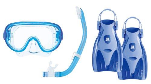 リーフツアラー マスク シュノーケル フィン 3点セット RP-3002 ブルー Lサイズ