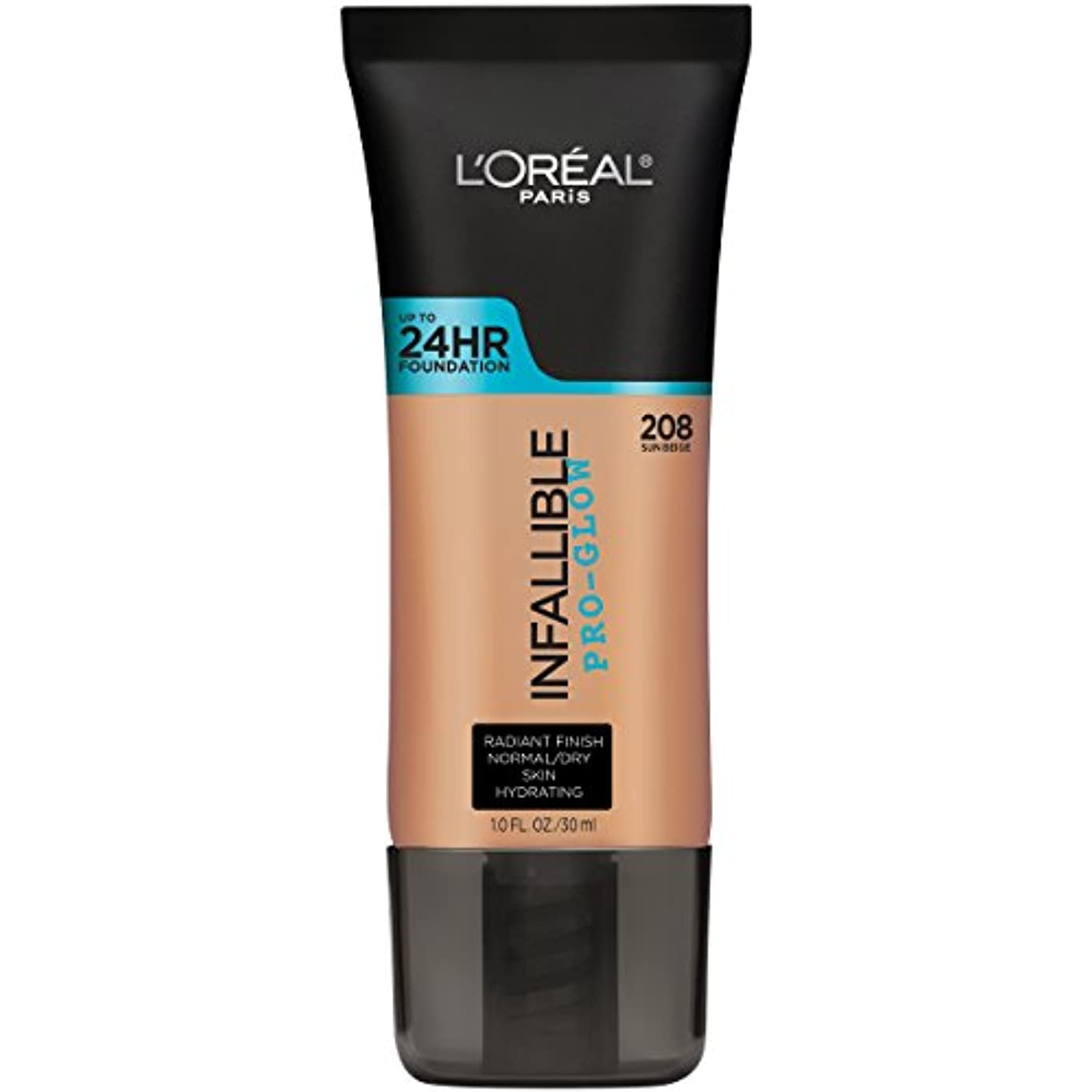 全員仕えるスーツL'OREAL Infallible Pro-Glow Foundation - Sun Beige (並行輸入品)