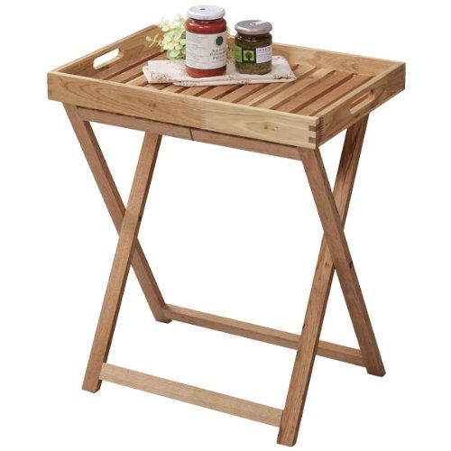 テーブル 折りたたみ 机 木製 ナチュラル テイスト トレーテーブル LFS-357NA