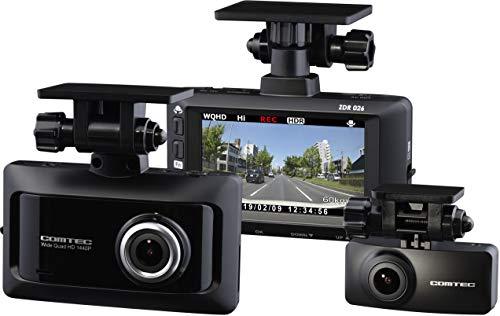 コムテック 前後2カメラ ドライブレコーダー ZDR026  2019年モデル 高画質370万画素 ノイズ対策品 1年保証 ...