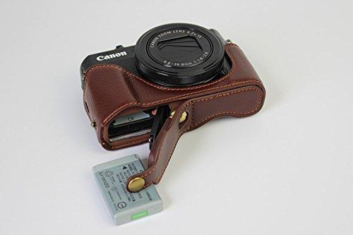 下部開口部バージョン保護用本革レザーカメラケースバッグカバー...