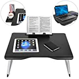 Cooper Cases TABLE MATE 折りたたみ テーブル PC ベッド カップホルダー スマホホルダー ブックスタンド 持ち運び ミニ ちゃぶ台 (ブラック)