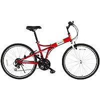 RENAULT(ルノー) 26インチ折畳自転車 FDB2618 シマノ製18段ギア搭載 MG-RN2618s ヴァーミリオン