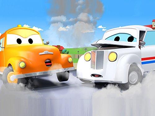 ポストカーのピーター&バスのリリー2そして, レッカー車のトム, (子供向け)車&トラックの 建設アニメ