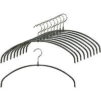 すべり落ちない MAWAハンガー [超スリム 0.4cm] レディースライン 39cm 10本組 ラメブラック MA4140LBK-SET10