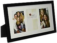 Lawrence Frames ウォールナットウッド トリプルマット写真フレーム 4 by 6 Triple ブラック 765034