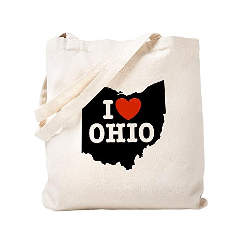 CafePress – I Love Ohio – ナチュラルキャンバストートバッグ、布ショッピングバッグ S ベージュ 0029815112DECC2
