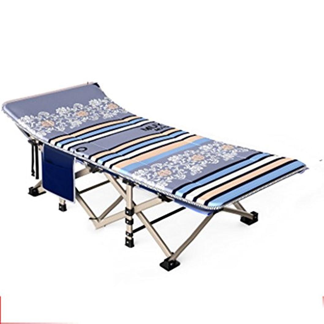 スプレー太陽塩辛い折りたたみ式ベッド アウトドアベッドシングルベッドシエスタシエスタベッドシンプルな布ベッドキャンプベッド同伴ベッド (Color : Gray, Size : 190*67*35cm)