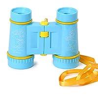 QXMEI おもちゃ 望遠鏡 ディズニー 子供のおもちゃ 目の傷つけない HD双眼鏡 プライマリースクールギフト ブルー 02170