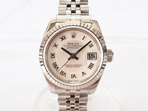 ROLEX(ロレックス)デイトジャスト 179174NRD D番 ピンクシェル文字盤 中古 腕時計