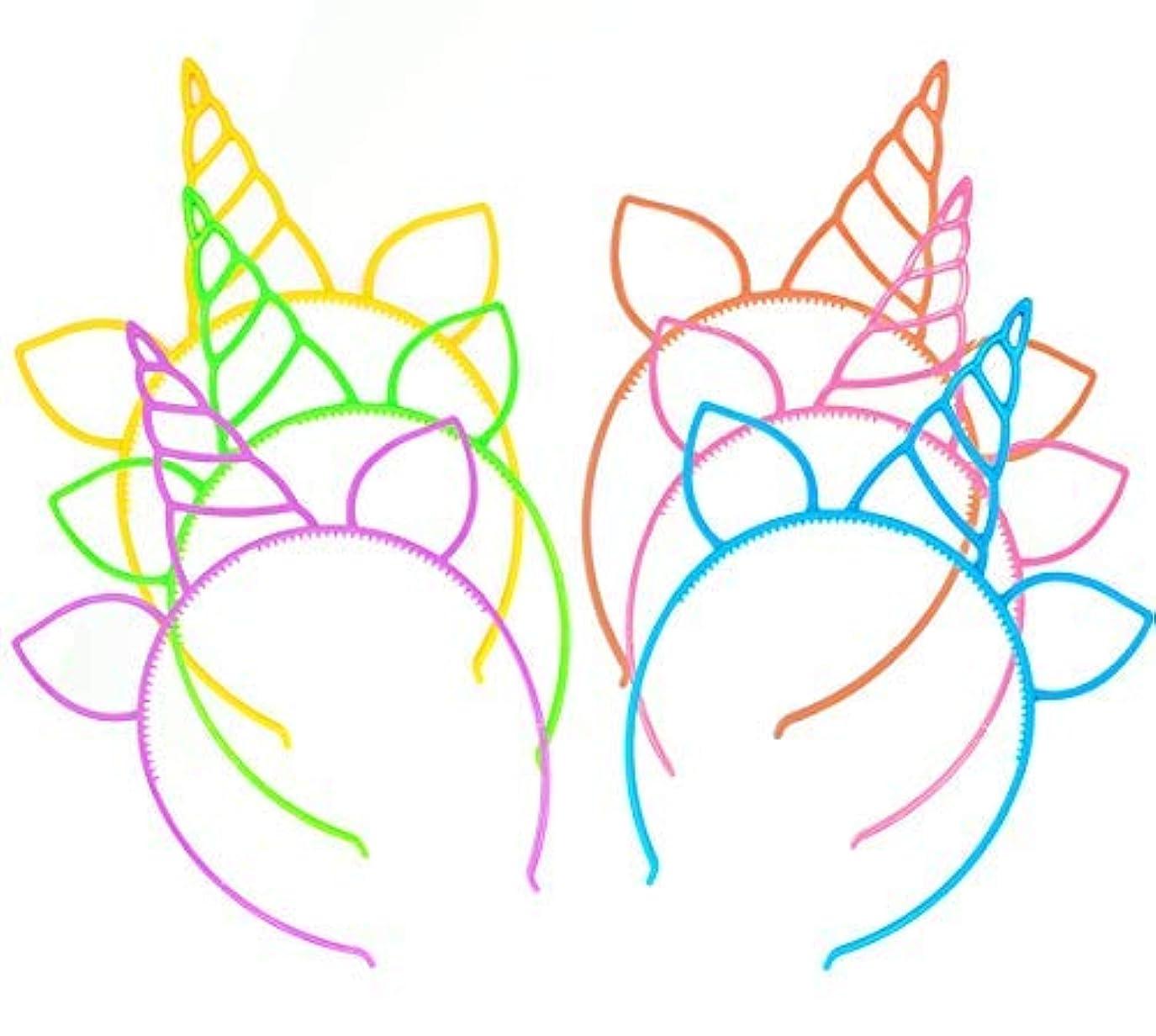12 Pcs Unicorn Headbands Theme Birthday Party Favor Supplies Gift Costume [並行輸入品]