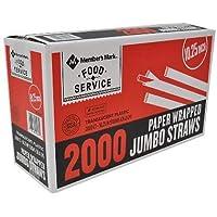 Member's Mark Wrapped Jumbo Straws (2,000 ct.) [並行輸入品]
