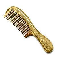 Vi.yoヘアブラシ 櫛 ヘアコーム 高級木製櫛 緑檀 静電防止 美髪ケア