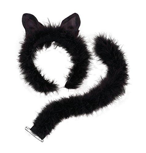 黒猫仮装衣装セット 耳とシッポ ハロウィンパーティー [並行輸入品]