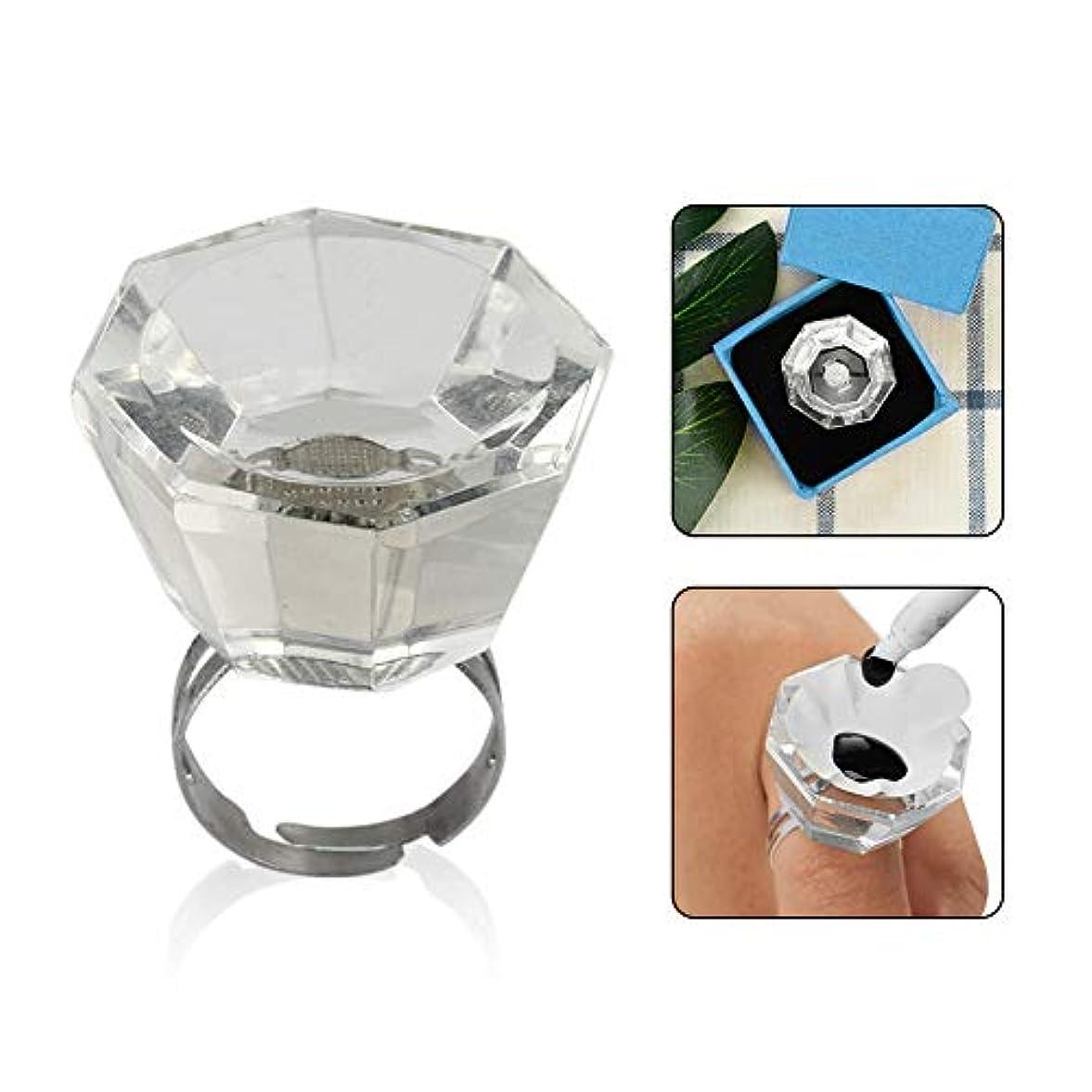 悪の鹿スラッシュMurakush 顔料カップ 指輪 移植まつげ ガラス リングカップ 調整可能
