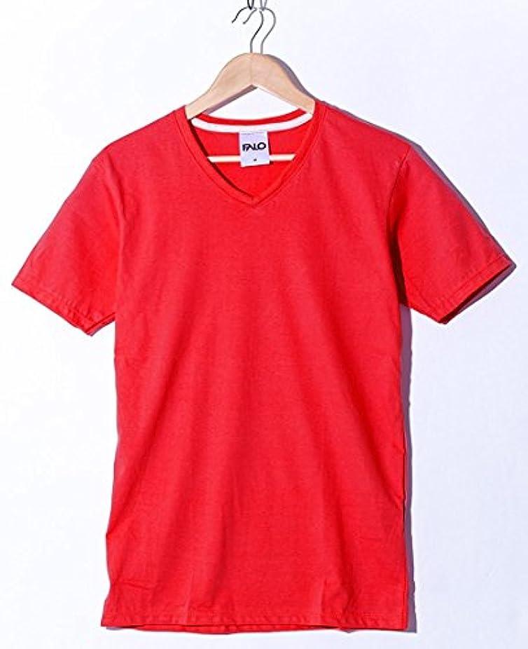ぼんやりした腹部酔う(ファロ) FALO 25color 4.4oz Vネック 無地 Tシャツ 春 夏 秋 メンズ レディース
