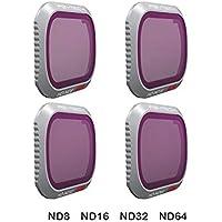 XHS DJI Mavic 2 Pro フィルター ND減光フィルター 4個セット レンズフィルター ND8 +ND16 +ND32 +ND64 光学ガラス 航空アルミフレーム