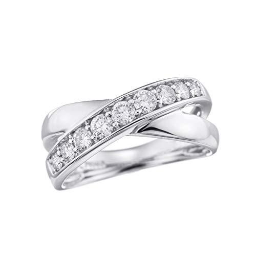 [ジュエリーツツミ]JEWELRY TSUTSUMI プラチナダイヤモンドリング LFR418 16号