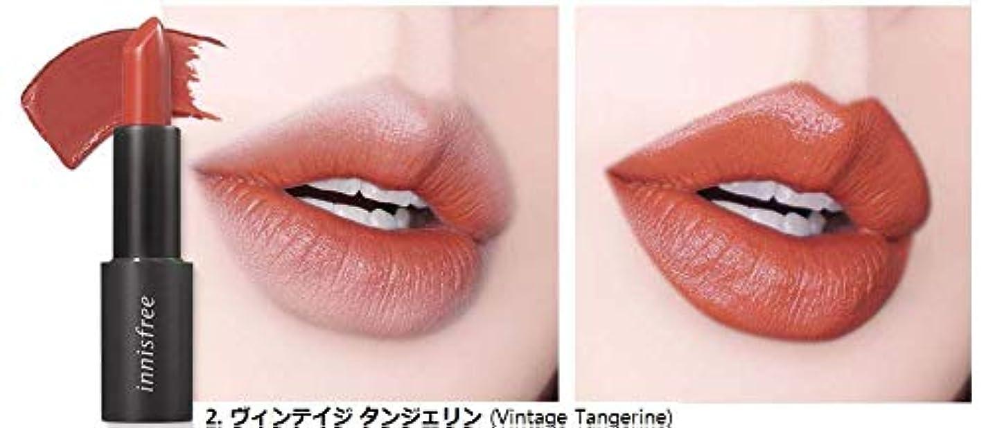 ガイドライン焦げ契約する[イニスフリー] innisfree [リアル フィット リップスティック 3.1g - 2019 リニューアル] Real Fit Lipstick 3.1g 2019 Renewal [海外直送品] (02. ヴィンテイジ タンジェリン (Vintage Tangerine))