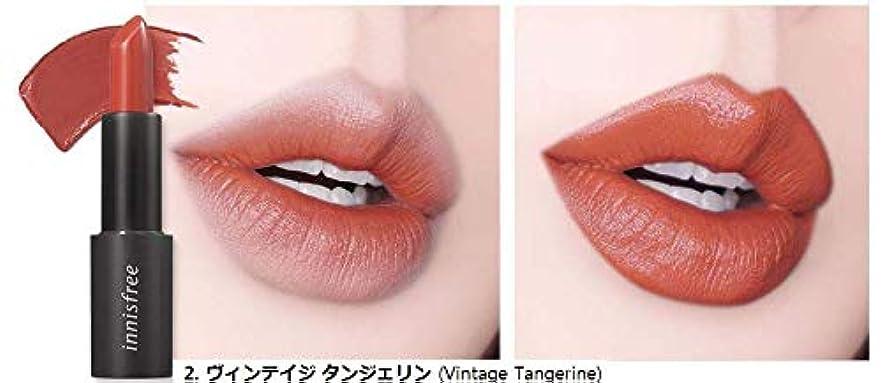 パイプ合図論理[イニスフリー] innisfree [リアル フィット リップスティック 3.1g - 2019 リニューアル] Real Fit Lipstick 3.1g 2019 Renewal [海外直送品] (02. ヴィンテイジ...