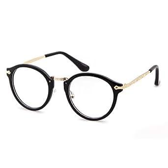 ADEWU ボストン型 伊達めがね おしゃれ 度なし ファッション メンズ レディース キュート 3点セット (ブラック)