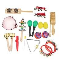 B Blesiya 子ども 幼児 知育玩具 楽器おもちゃ 打楽器 タンバリン ハンドベル クラビ