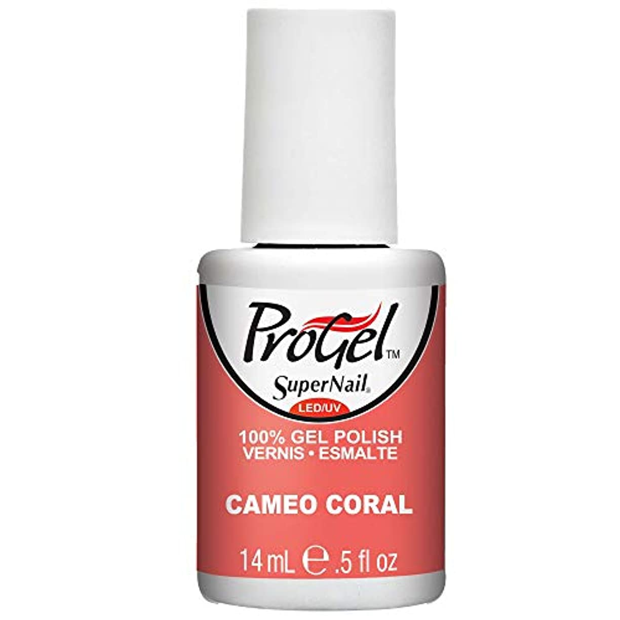 彼らのもの幸福代理店SuperNail ProGel Gel Polish - Cameo Coral - 0.5oz / 14ml
