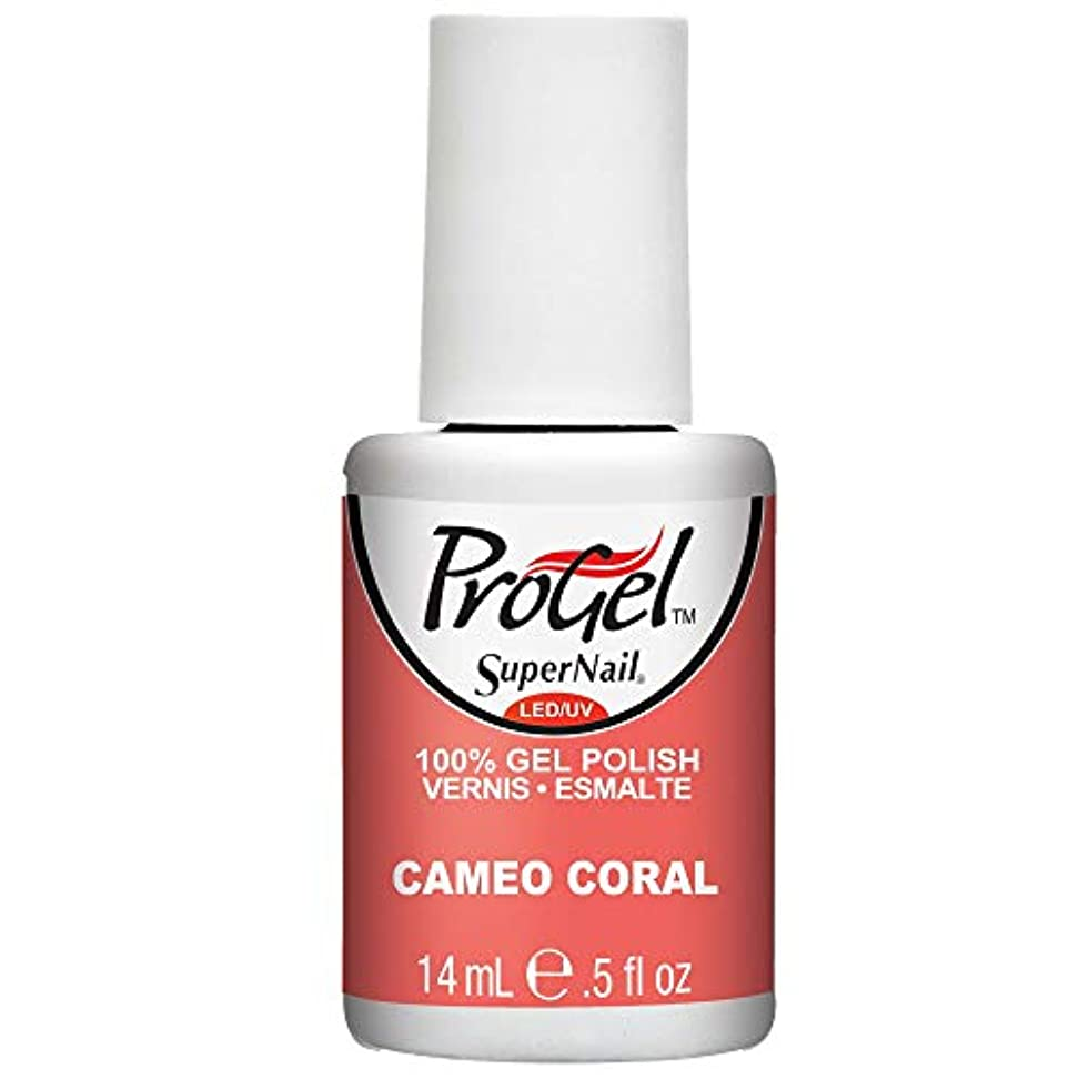 ヒステリック電気滞在SuperNail ProGel Gel Polish - Cameo Coral - 0.5oz / 14ml