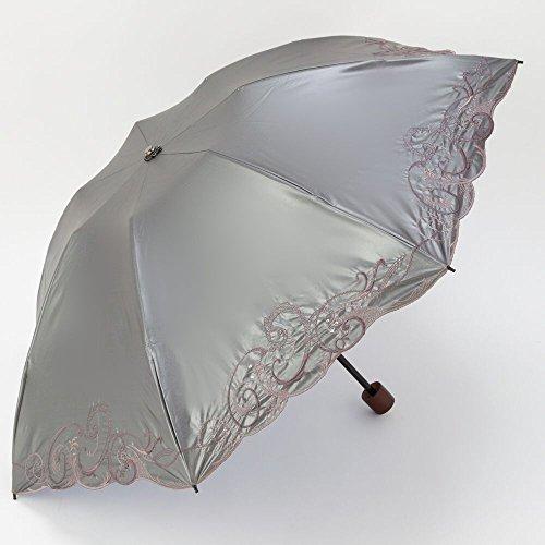 日傘 折りたたみ 遮光 遮熱 UVカット 3段折りたたみ日傘 ...