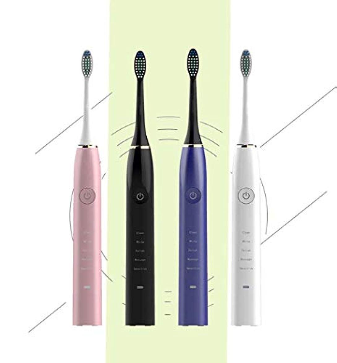 独創的重要な帝国主義電動歯ブラシ、インテリジェントソニック電動歯ブラシ、誘導充電式自動歯ブラシ、スマートタイマー、大人子供(カラー:ホワイト)