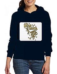 クリスマス親愛なるサンタ私はそれをすべてしたい Women Pocket Hoodie Sweater レディーズ トップス パーカー アクティブウェア