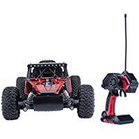 Offroad Vehicle HappyCell 1/16 Scale Electric RC Car Toys 27Mhz 2WD High Speed Car 24+MPH Remote Controlled Racing Car Red [並行輸入品]