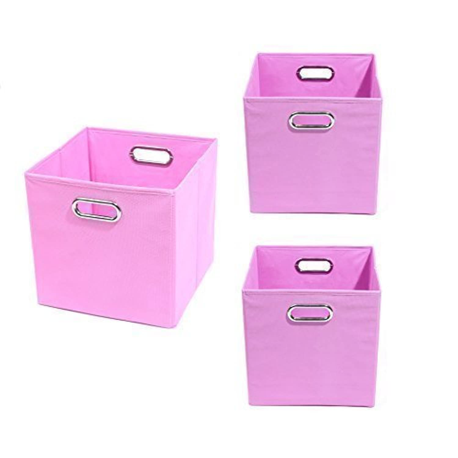 Modern Littles Organization Bundle-3 Storage Bins, Rose Pink by Modern Littles [並行輸入品]