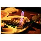 ポストカード「ガスバーナーで魚を焼く」フォトカード絵はがきハガキ葉書postcard