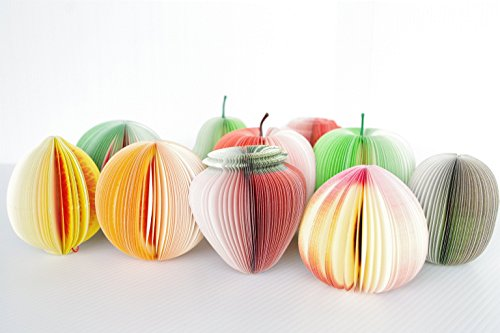 TPOS メモ帳 立体フルーツメモ 3Dメモ まるで本物の果物みたいなメモ帳 10種類セット