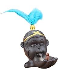 Homyl ヴィンテージ 仏教 香炉 バーナーホルダー 逆流コーン 香バーナー 全2色 - 青